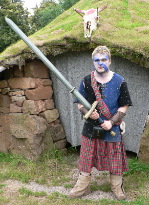 Barbarian with Kilt and Massive Sword